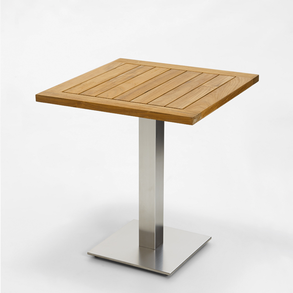 Niehoff Bistro Tisch quadratisch 81x81cm, Teak geölt