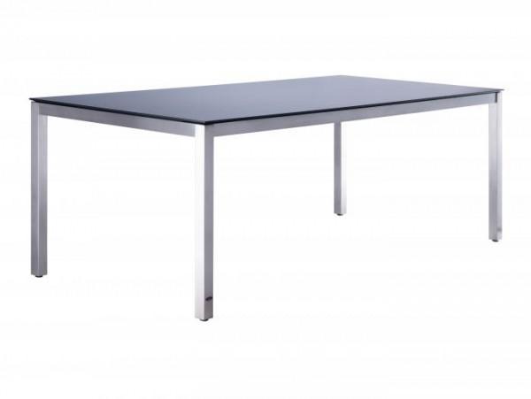 Zebra Opus Tisch - Beton dunkel 210cm