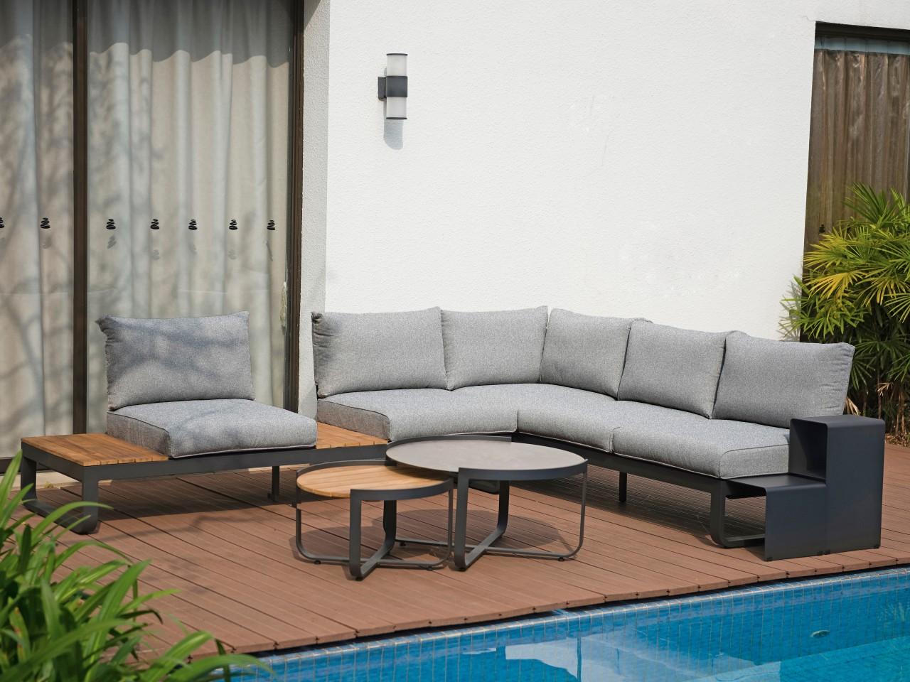 Zebra Gartenmöbel-Set Fly Lounge Mixed Grey