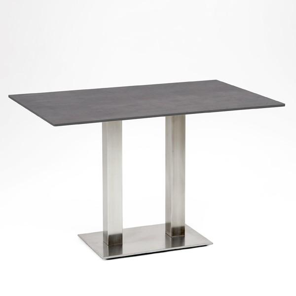 Niehoff Bistro Tisch rechteckig 120x81cm, HPL Beton-Design