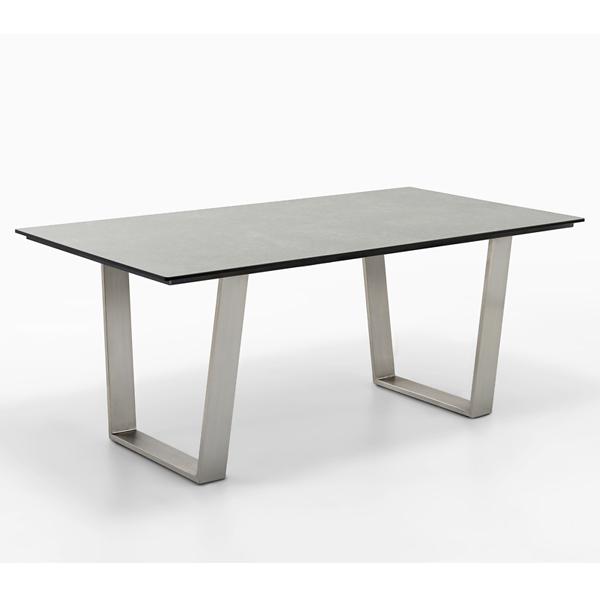 Niehoff Noah Gartentisch mit Trapezkufe und Tischplatte HPL Beton Design, abweichende Ausführung 200cm