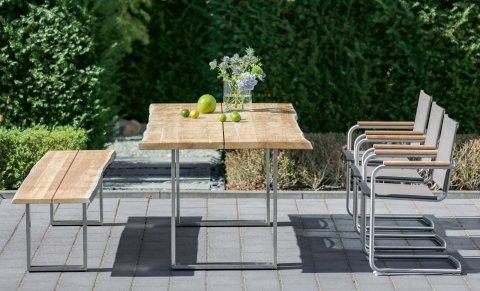 Niehoff Gartenmöbel Sitzgruppe Solid-Nathalie silbergrau 2