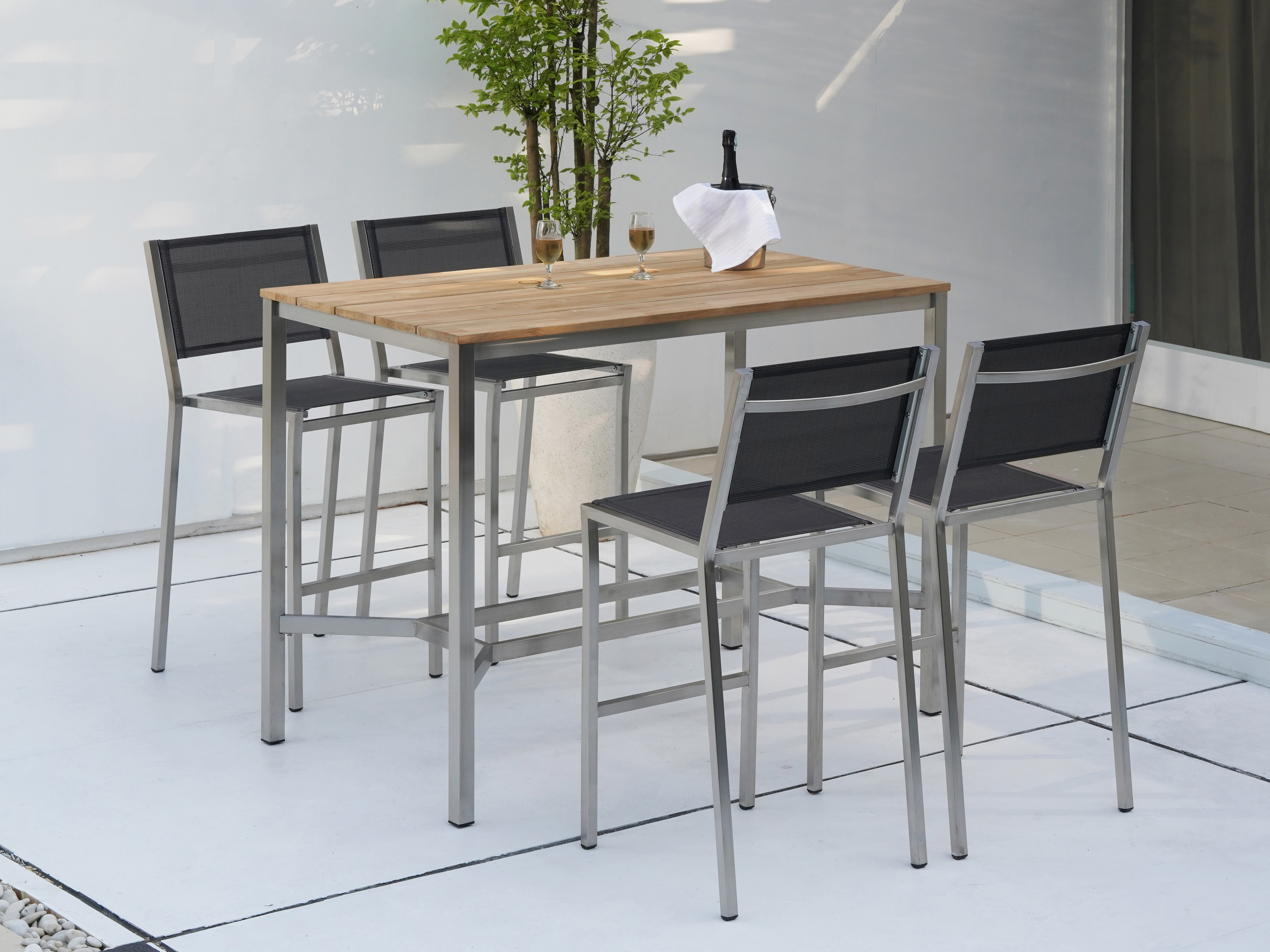 Zebra Gartenmöbel-Set Pontiac: Die Dekoration gehört nicht zum Lieferumfang.