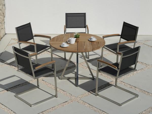 Zebra Gartenmöbel-Set Triangel-Pontiac Swing: Die Dekoration gehört nicht zum Lieferumfang.