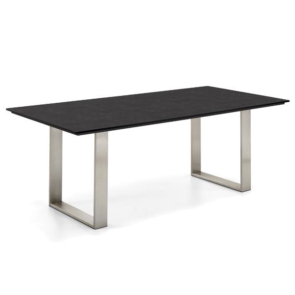 Niehoff Noah Gartentisch mit Profilkufe und Tischplatte HPL Granit-Design, abweichende Ausführung 200cm
