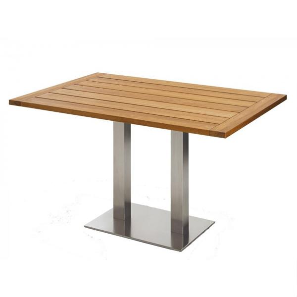 Niehoff Bistro Tisch rechteckig 120x81cm, Teak geölt
