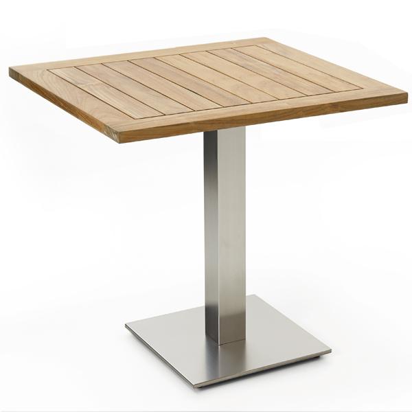 Niehoff Bistro Tisch quadratisch 81x81cm, Teak recycled