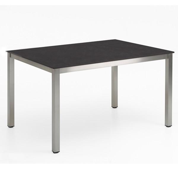 Niehoff Nelson Gartentisch Edelstahl-HPL 95x141cm Granit-Design