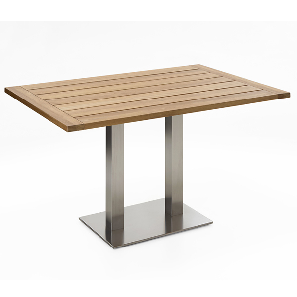 Niehoff Bistro Tisch rechteckig 120x81cm, Teak recycelt