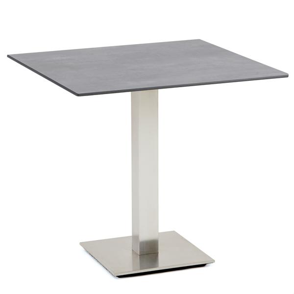 Niehoff Bistro Tisch quadratisch 81x81cm, HPL Beton-Design