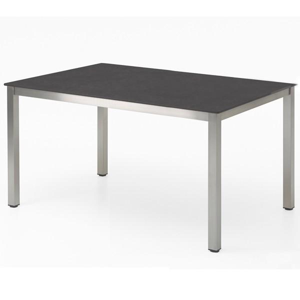 Niehoff Nelson Gartentisch Edelstahl-HPL 95x173cm Granit-Design