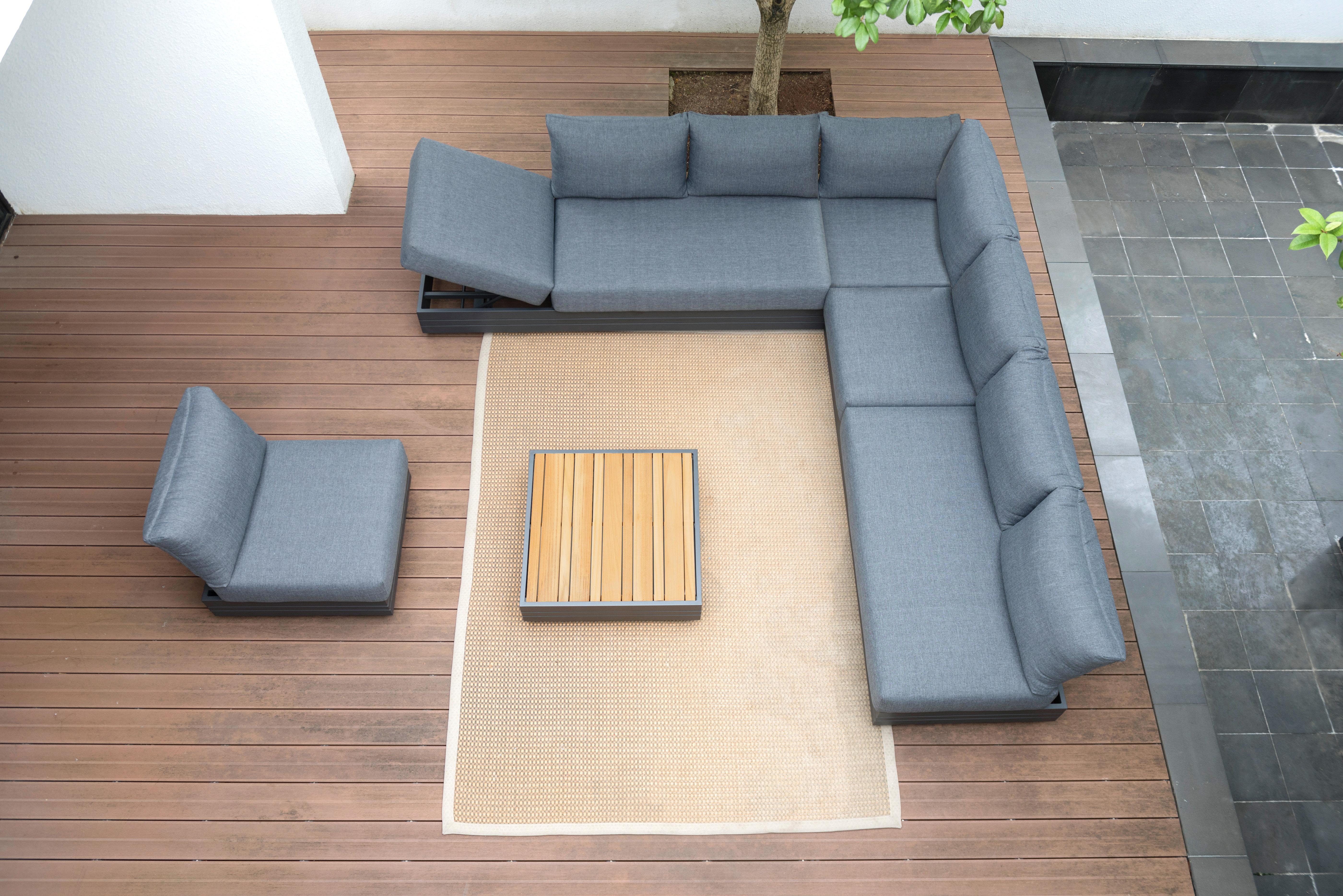 Zebra Gartenmöbel-Set Cubo Lounge