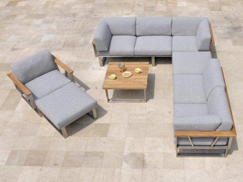 Zebra Gartenmöbel-Set Belvedere Lounge 2 (Dekoration gehört nicht zum Lieferumfang)