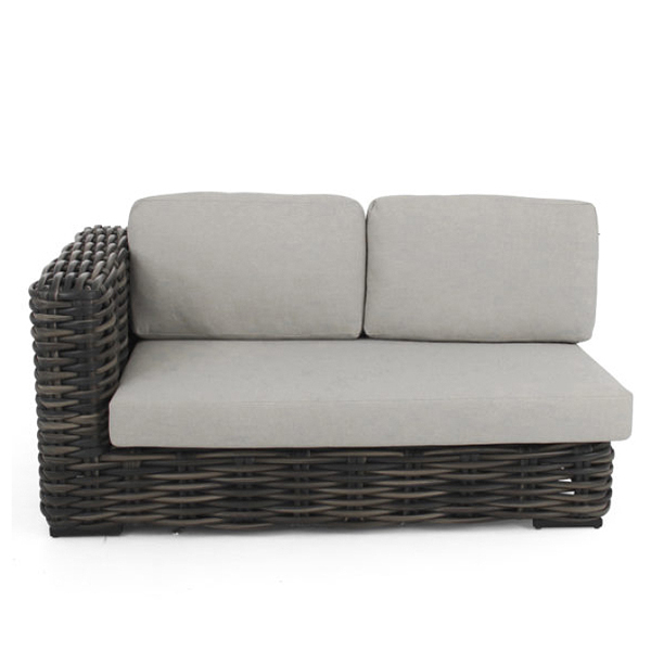 Apple Bee Elements XL black wash Sofa rechts