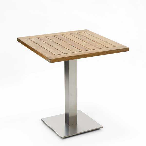 Niehoff Bistro Tisch quadratisch 68x68cm, Teak recycled.