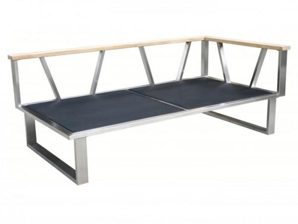 Zebra Belvedere Lounge 2-Sitzer, Armlehne rechts Rahmen - ohne Polster