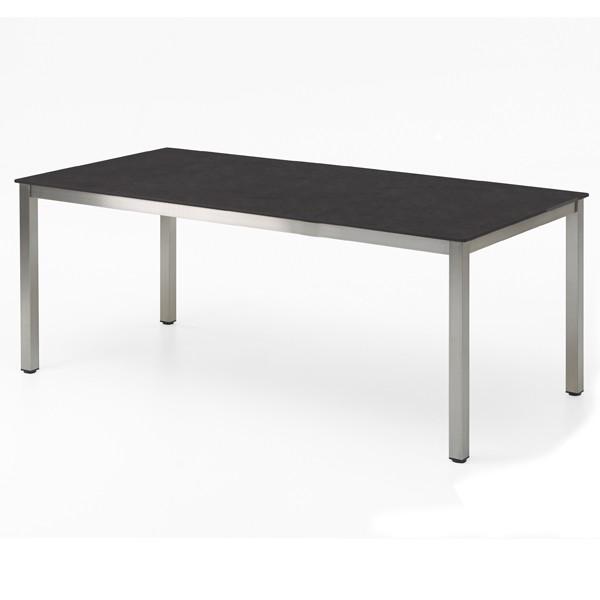 Niehoff Nelson Gartentisch Edelstahl-HPL 95x195cm Granit-Design