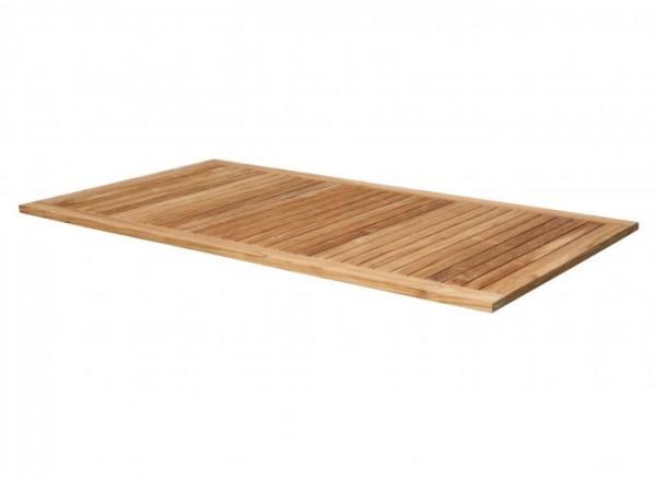 Zebra Tischplatte Teak 180cm