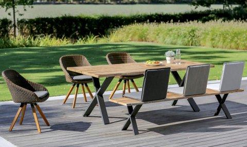 Niehoff Gartenmöbel Sitzgruppe Xenio-Nizza-Nette