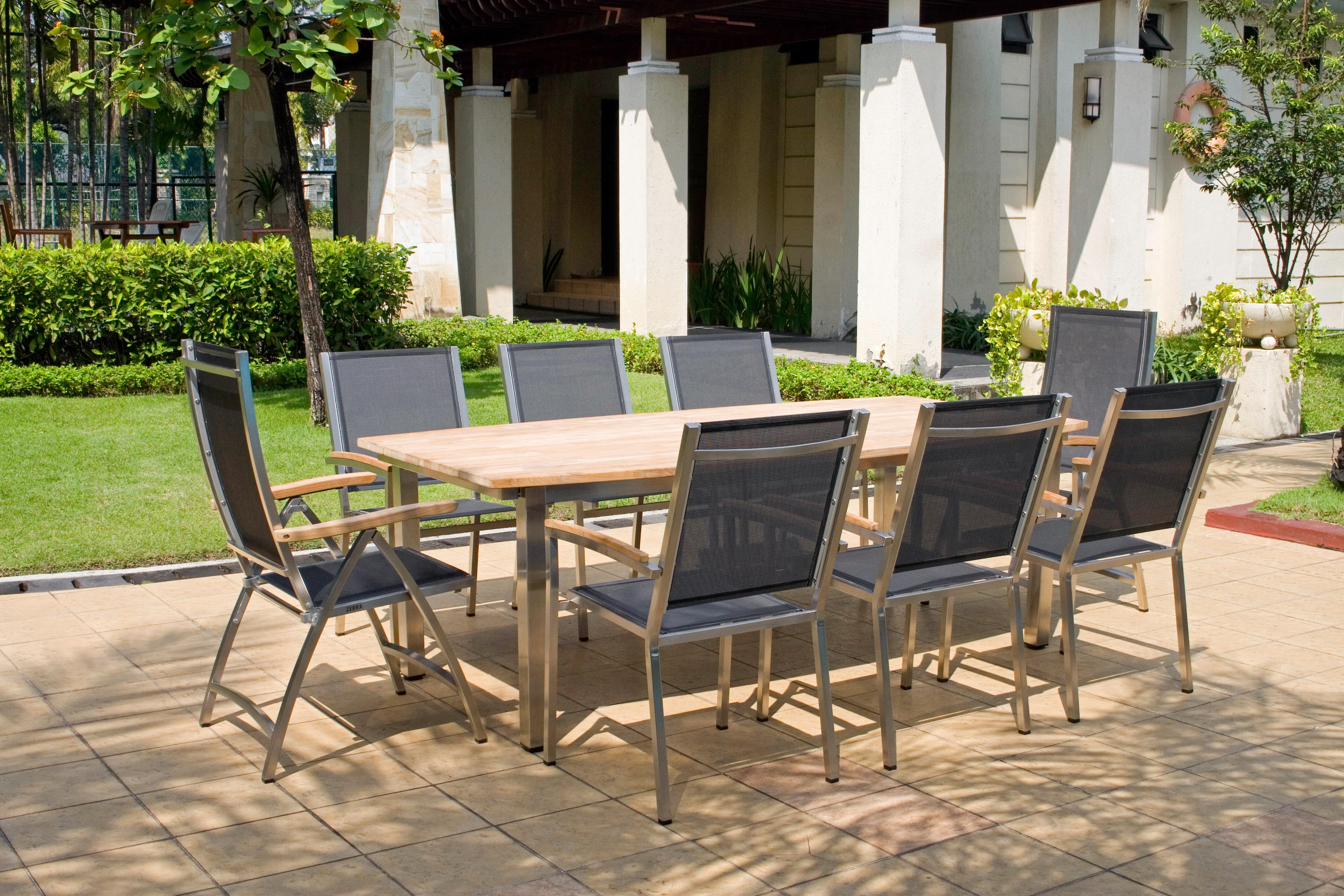 Zebra Gartenmöbel-Set Ocean-Pontiac: Die Dekoration gehört nicht zum Lieferumfang.