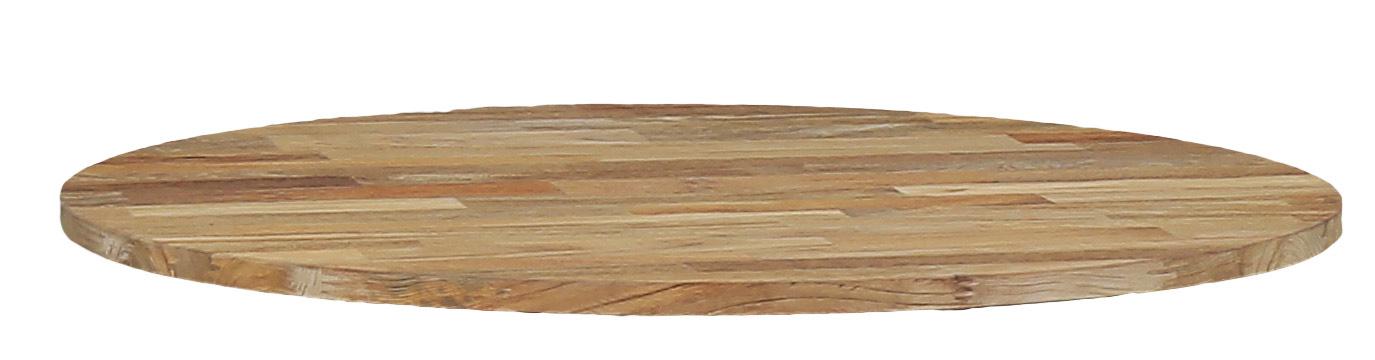 Zebra Oryx Edge-Helix Drehplatte Teak recycelt
