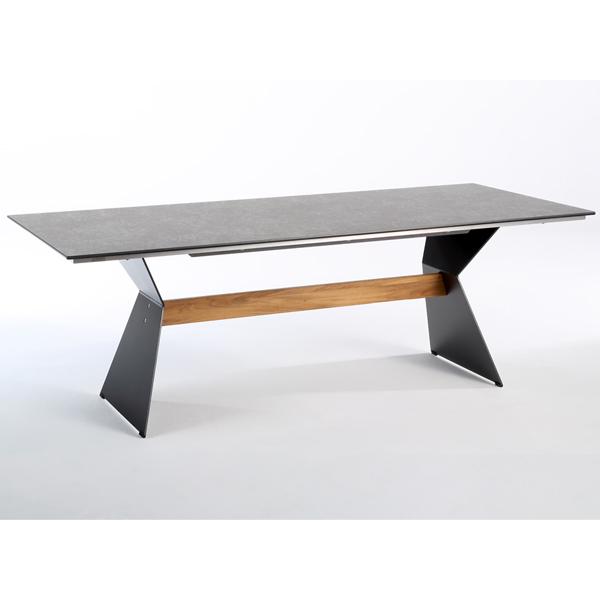 Niehoff Nero Tisch 200cm, HPL Granit-Design