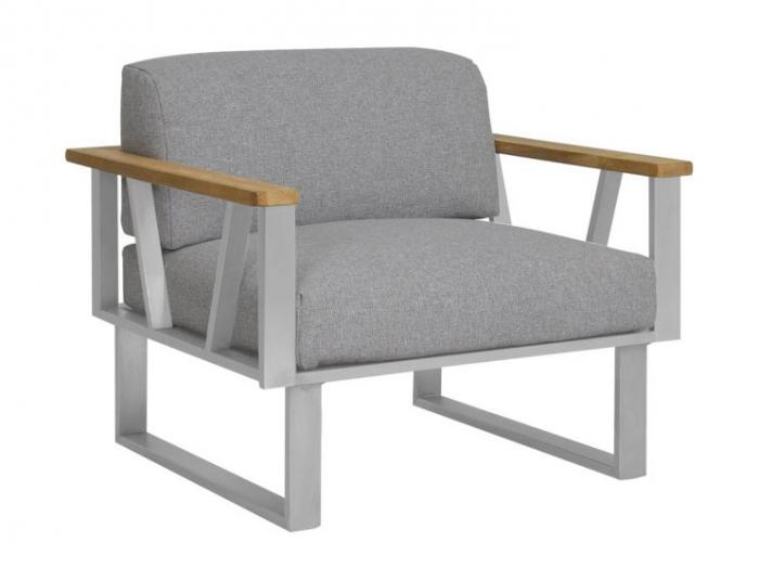 Die Abbildung zeigt das Kissen-Set Lounge Sessel Belvedere. Der Sessel gehört nicht zum Lieferumfang.
