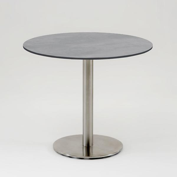 Niehoff Bistro Tisch rund 95cm, HPL Beton-Design