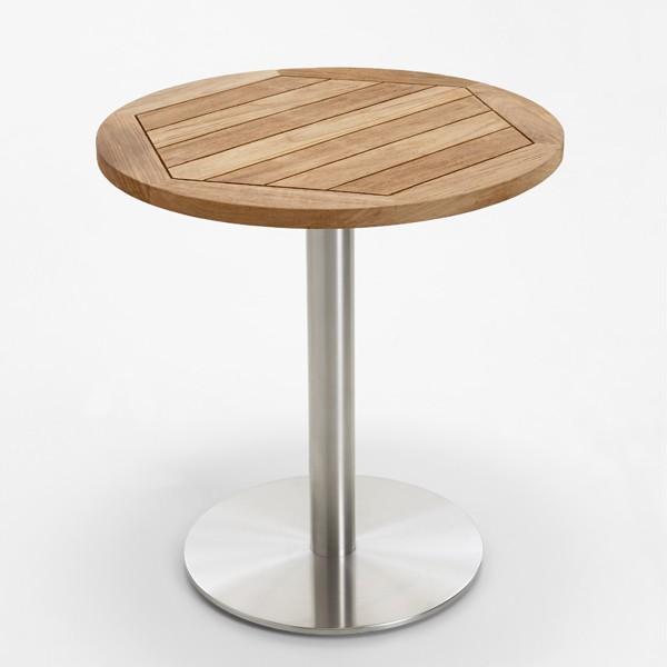 Niehoff Garden Tisch Bistro, abweichende Ausführung Teak recycelt, alternative Größe mit 70cm Durchmesser.