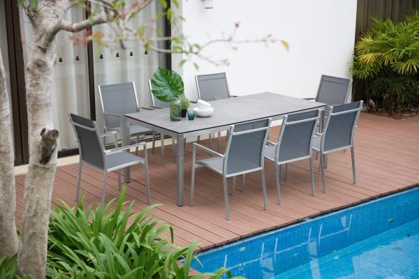 Gartenmöbel-Set Opus-One-Tex: Die Tischdekoration gehört nicht zum Lieferumfang.