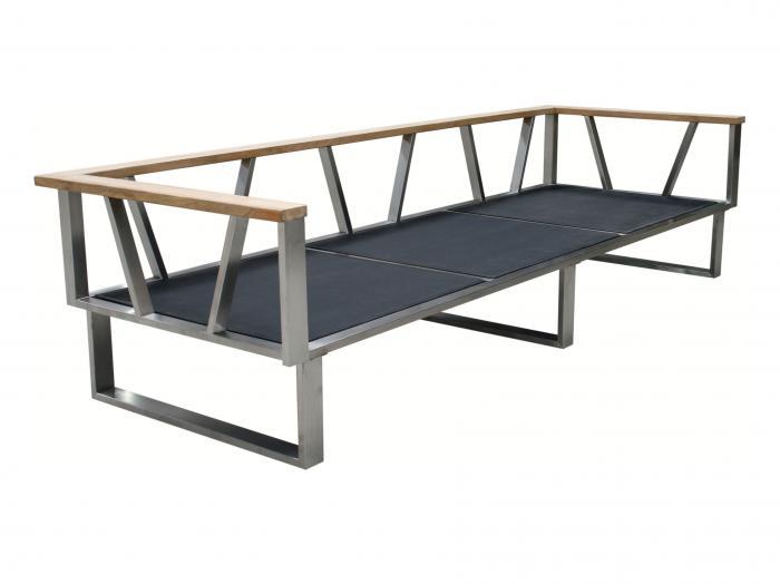 Zebra Belvedere Lounge 3-Sitzer Rahmen - ohne Polster-verstellbar