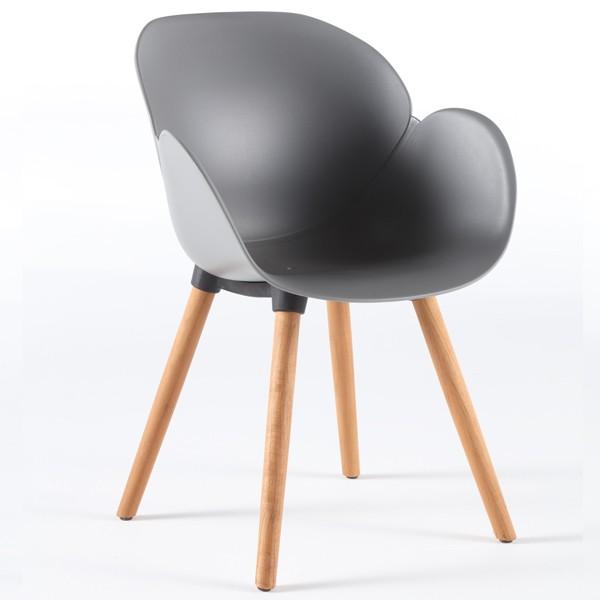 Niehoff Sushi Stuhl grau mit Vierfuß