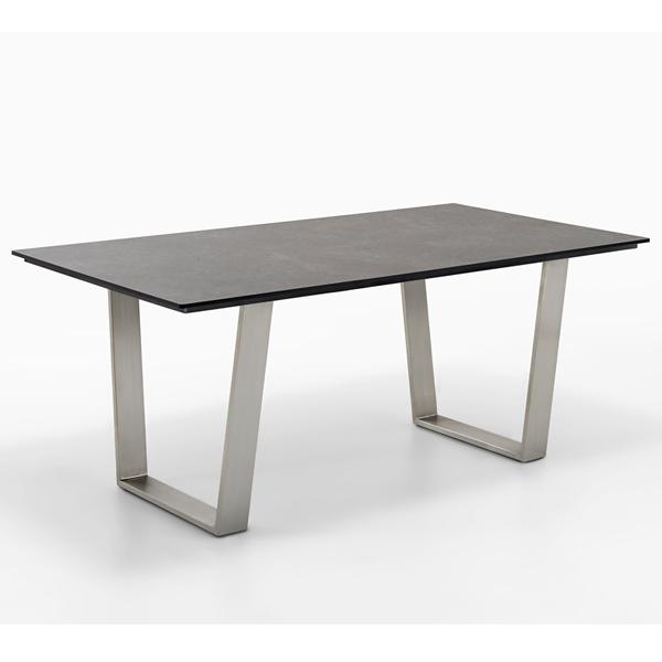 Niehoff Noah Gartentisch mit Trapezkufe und Tischplatte HPL Granit-Design, abweichende Ausführung 200cm