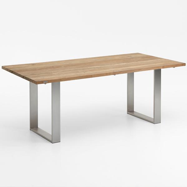 Niehoff Noah Gartentisch mit Profilkufe und Tischplatte Teak recycelt, abweichende Ausführung 200cm