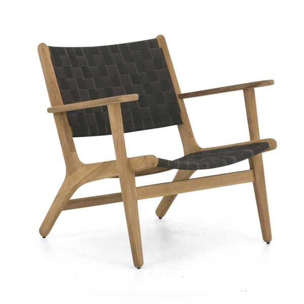 Apple Bee Luc Lounge Chair niedrig mit Armlehnen