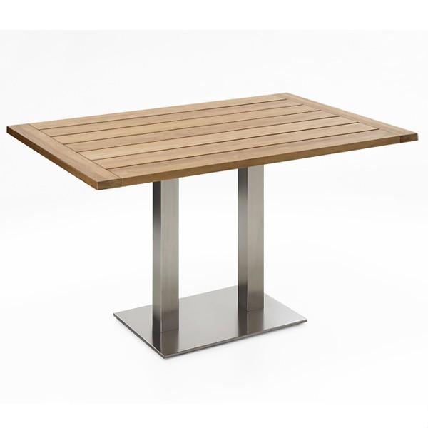 Niehoff Bistro Tisch rechteckig 120x81cm, Teak recycelt