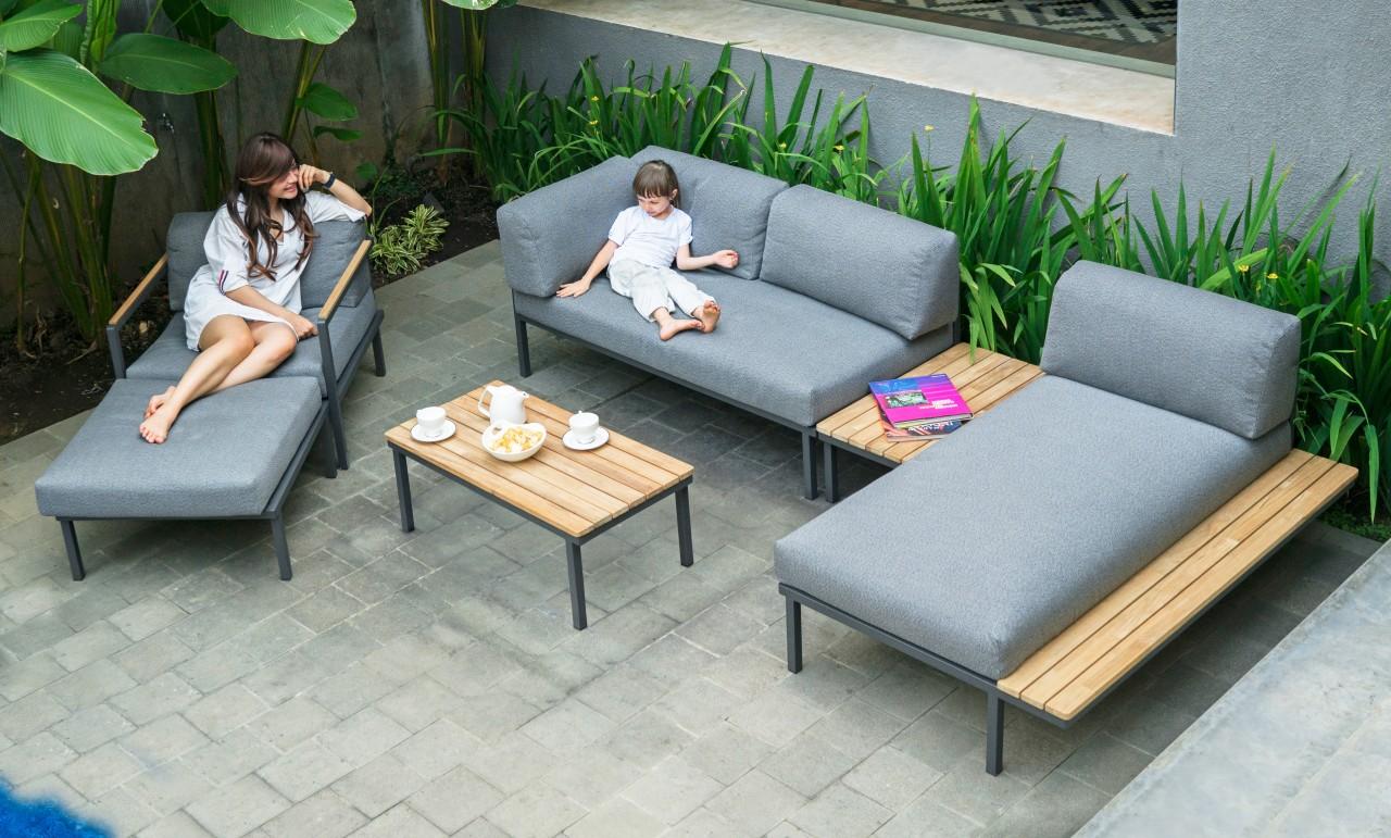 Zebra Gartenmöbel-Set Hudson Lounge