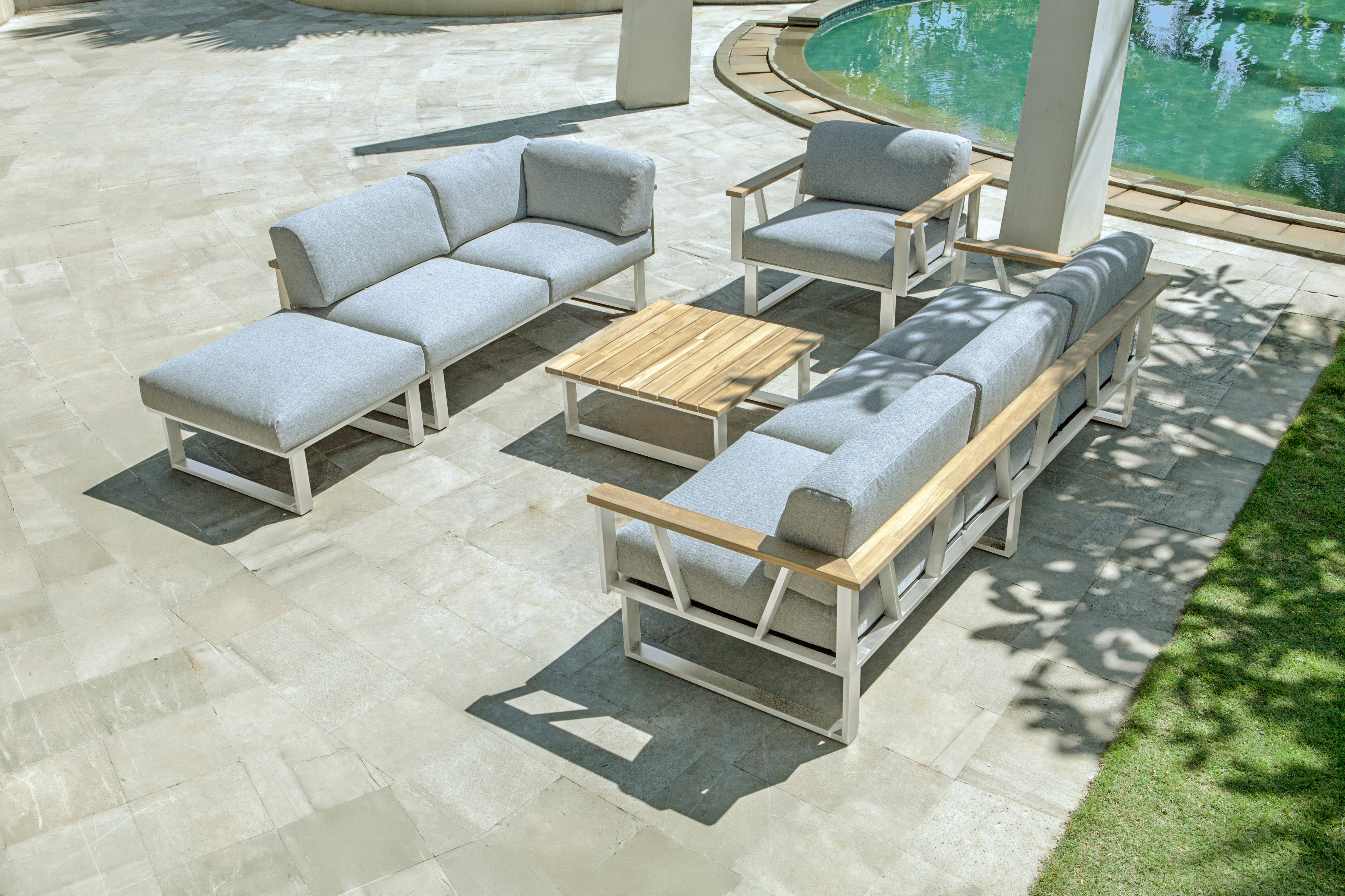 Zebra Gartenmöbel-Set Belvedere Polypropylen Lounge