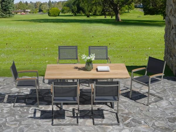 Zebra Gartenmöbel-Set Triangel-Pontiac Swing-1: Die Dekoration gehört nicht zum Lieferumfang.