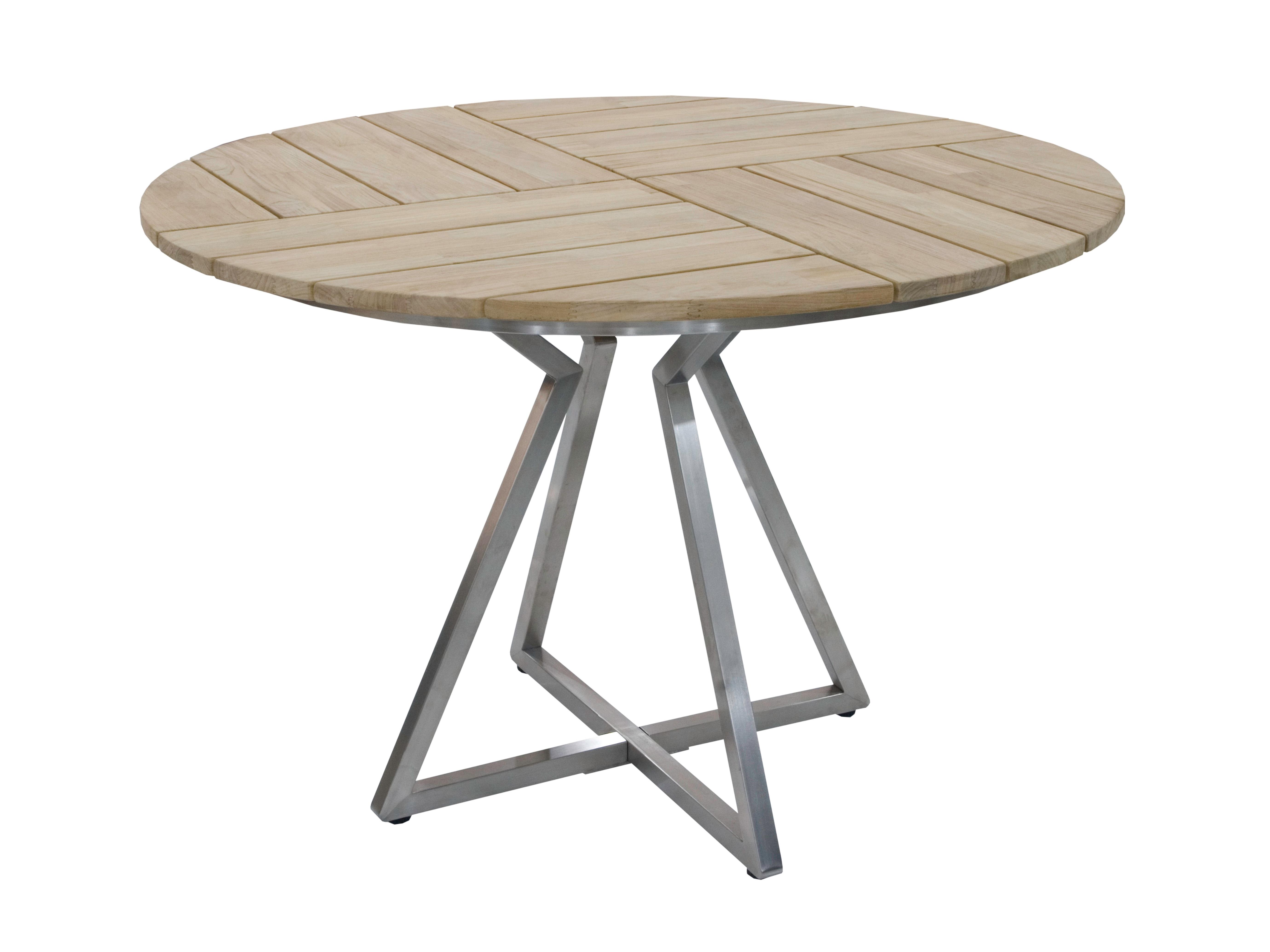 Zebra Triangel Tisch rund 110cm