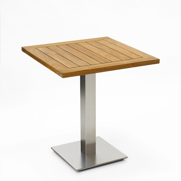 Niehoff Bistro Tisch quadratisch 68x68cm, Teak geölt