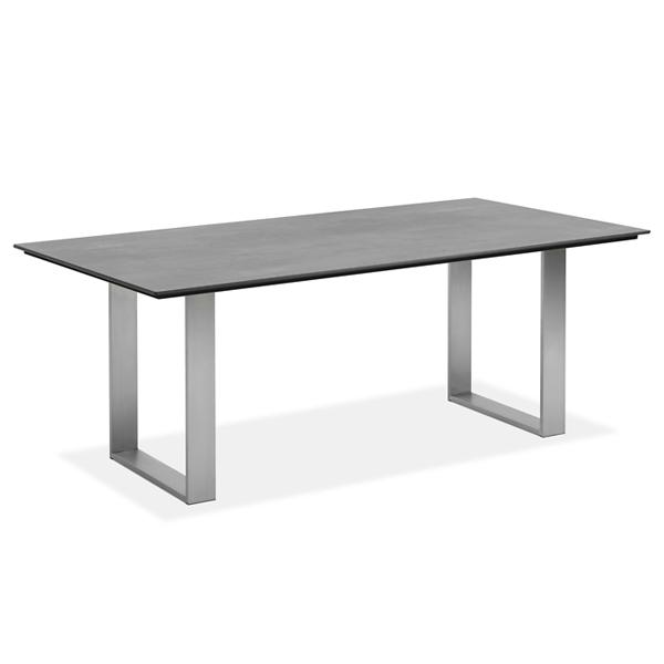 Niehoff Noah Gartentisch mit Profilkufe und Tischplatte HPL Beton Design, abweichende Ausführung 200cm