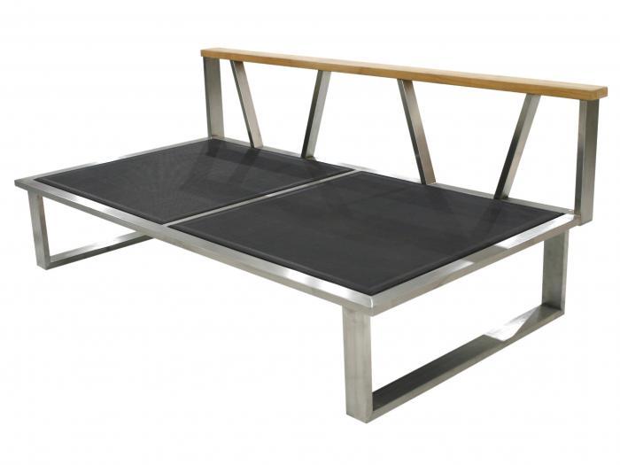 Zebra Belvedere Lounge 2-Sitzer, Mitte Rahmen - ohne Polster