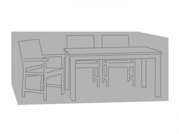 Dier Abbildung zeigt die Zebra Schutzhülle für Sitzgruppen. Die Gartenmöbel gehören nicht zum Lieferumfang.