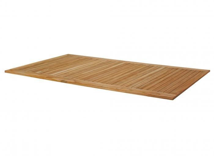 Zebra Tischplatte Teak 210cm