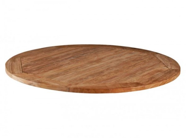 Zebra Tischplatte Teak rund