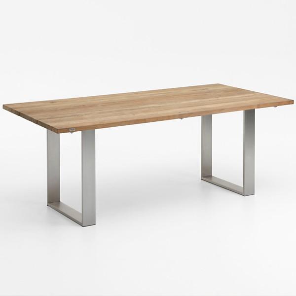 Niehoff Noah Gartentisch mit Profilkufe und Tischplatte Teak, abweichend Ausführung 200cm