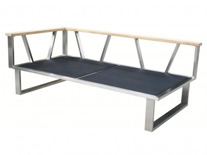 Zebra Belvedere Lounge 2-Sitzer, Armlehne links Rahmen - ohne Polster