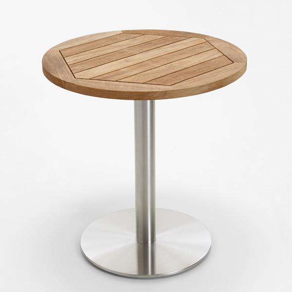 Niehoff Garden Tisch Bistro, abweichende Ausführung Teak recycelt, alternative Größe 70cm Durchmesser.