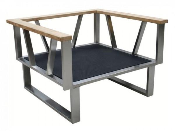 Zebra Belvedere Lounge Sessel Rahmen - ohne Polster